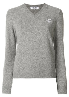 Comme Des Garçons Play V-neck pullover - Grey