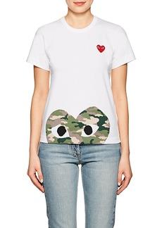 Comme des Garçons PLAY Women's Cotton Camouflage Heart T-Shirt