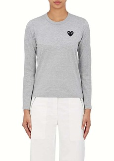 Comme des Garçons PLAY Women's Cotton Long-Sleeve T-Shirt