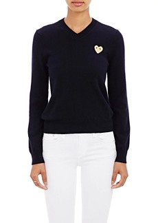 Comme des Garçons PLAY Women's Playful Heart V-Neck Sweater
