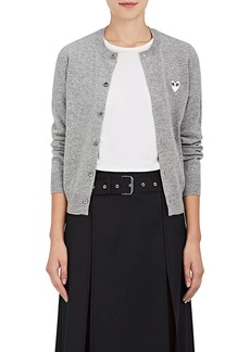 Comme des Garçons PLAY Women's Stockinette-Stitched Wool Cardigan