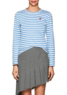 Comme des Garçons PLAY Women's Striped Cotton Long-Sleeve T-Shirt