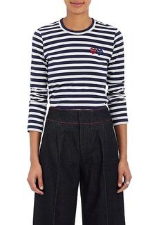 Comme des Garçons PLAY Women's Striped Cotton Long-Sleeve T-Shirt