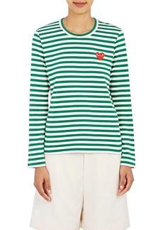 Comme des Garçons PLAY Women's Striped Long-Sleeve T-Shirt