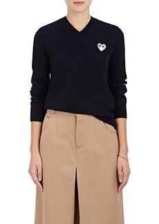 Comme des Garçons PLAY Women's Wool V-Neck Sweater