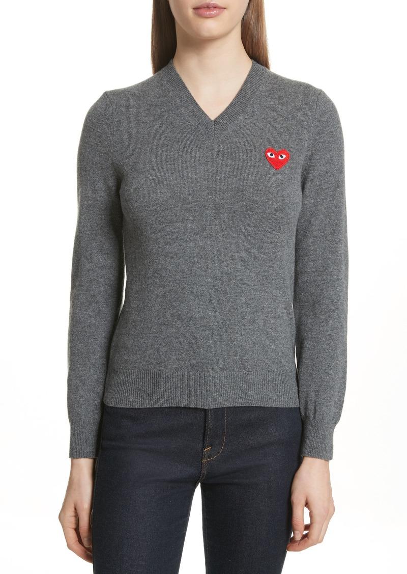 Comme des Garçons PLAY Wool V-Neck Sweater