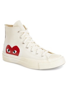 Comme des Garçons PLAY x Converse Chuck Taylor® Hidden Heart High Top Sneaker (Men)