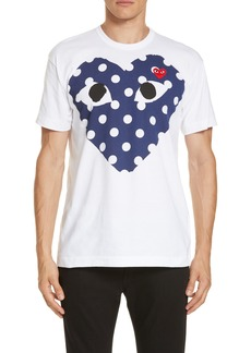 Comme des Garçons PLAY P5729186olka Dot Heart Graphic T-Shirt