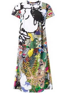 Comme Des Garçons printed cartoon T-shirt dress - Multicolour