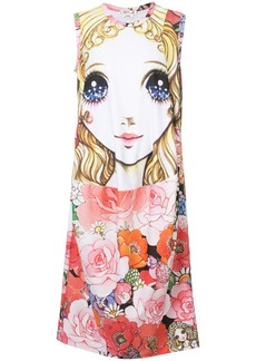 Comme Des Garçons printed doll shirt dress - Multicolour