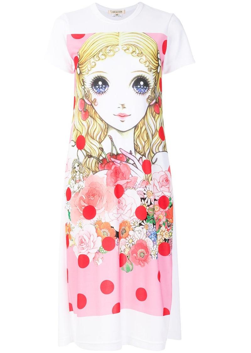Comme des Garçons printed doll T-shirt dress