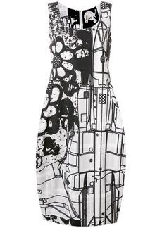Comme Des Garçons printed tank dress - Black