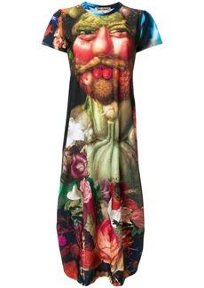 Comme Des Garçons Renaissance print T-shirt dress - Multicolour