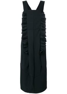 Comme Des Garçons ruffle detail pinafore dress - Black
