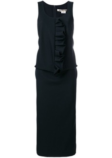 Comme Des Garçons ruffle detail sleeveless dress - Black