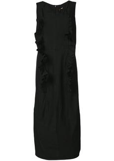 Comme Des Garçons ruffle trim pinafore dress - Black
