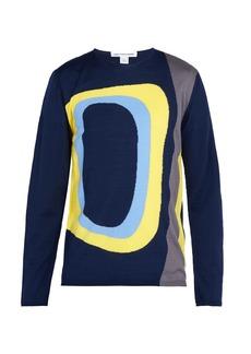 Comme des Garçons Shirt Abstract-intarsia wool-blend sweater