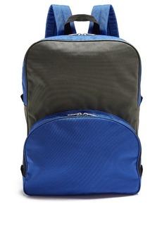 Comme des Garçons Shirt Bi-colour canvas backpack