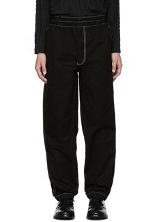 Comme des Garçons Shirt Black Contrast Stitch Trousers