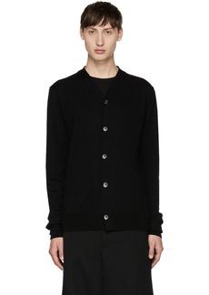 Comme des Garçons Shirt Black Knit Cardigan
