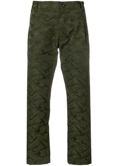 Comme Des Garçons Shirt Boys camouflage cropped trousers - Green