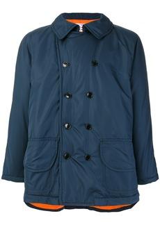 Comme Des Garçons Shirt Boys metallic sheen coat - Blue