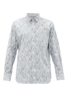 Comme des Garçons Shirt Camouflage-print striped-cotton shirt
