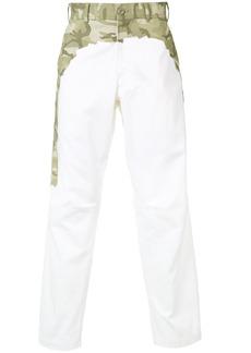 Comme Des Garçons Shirt camouflage waist trousers - White