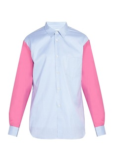 Comme des Garçons Shirt Check contrasting-sleeve cotton shirt