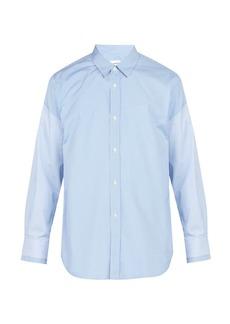 Comme des Garçons Shirt Checked cotton-poplin shirt