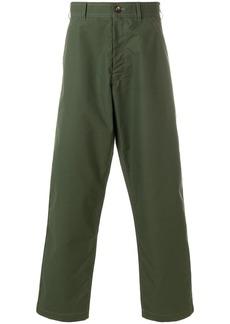 Comme Des Garçons Shirt checked wide-leg trousers - Green