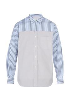 Comme des Garçons Shirt Contrast-panelled cotton shirt