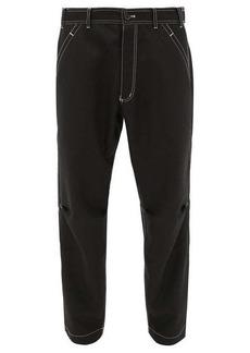 Comme des Garçons Shirt Contrast-stitch gabardine trousers