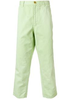 Comme Des Garçons Shirt cropped chinos - Green