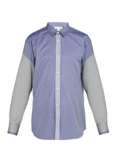 Comme des Garçons Shirt Dobby diamond-print cotton shirt