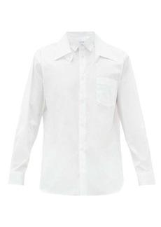 Comme des Garçons Shirt Double-collar cotton-poplin shirt
