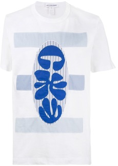 Comme Des Garçons Shirt embroidered fitted T shirt - White