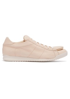 Comme des Garçons Shirt Exaggerated-tongue low-top leather trainers