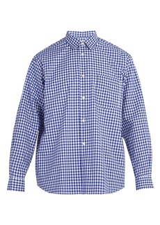 Comme des Garçons Shirt Forever point-collar cotton-gingham shirt