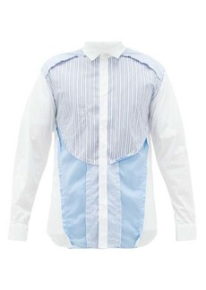 Comme des Garçons Shirt Inside-out cotton-poplin shirt