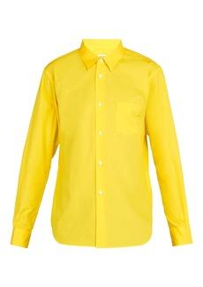 Comme des Garçons Shirt Logo cotton-poplin shirt