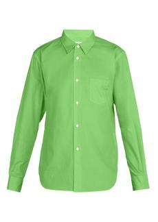 Comme des Garçons Shirt Logo-embellished cotton-poplin shirt