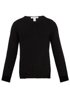 Comme des Garçons Shirt Long-sleeved wool-knit sweater
