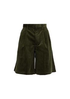 Comme des Garçons Shirt Loose-fit corduroy cotton shorts