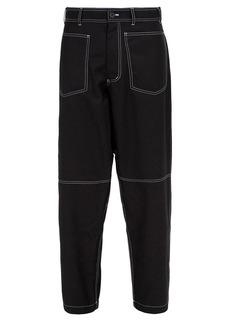 Comme des Garçons Shirt Loose-fit wool-blend trousers