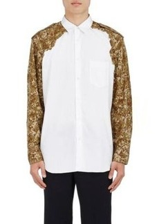 Comme des Garçons SHIRT Men's Camouflage-Sleeve Cotton Shirt