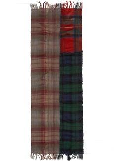Comme des Garçons Shirt Multicolor Wool Tartan Mix Scarf
