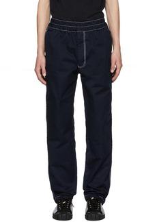 Comme des Garçons Shirt Navy Contrast Stitch Trousers