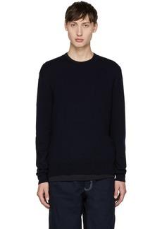 Comme des Garçons Shirt Navy Wool Gauge Sweater