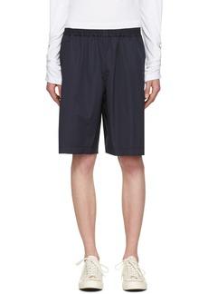 Comme des Garçons Shirt Navy Workstitch Shorts